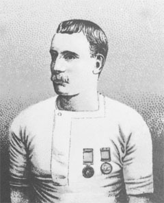 Captain Matthew Webb swam the English Channel on August 25, 1875