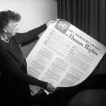 Eleanor_Roosevelt_holding up the Human_Rights_Declaration