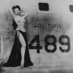 Hal Olsen's La Cherie nose art painting depicts a minimally clad woman