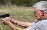 Gordon Cucullu Lt. Col (Ret.) staying sharp on the range
